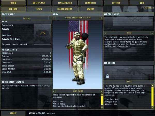 battle field 2 features